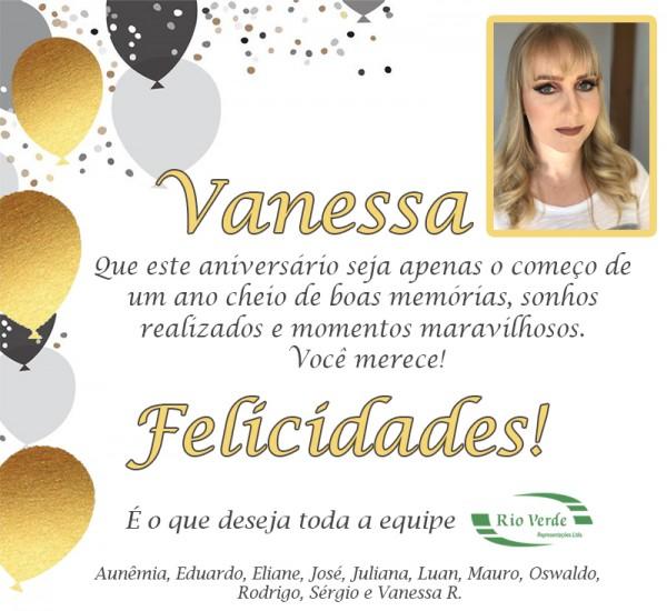 Feliz Aniversário Vanessa W.!