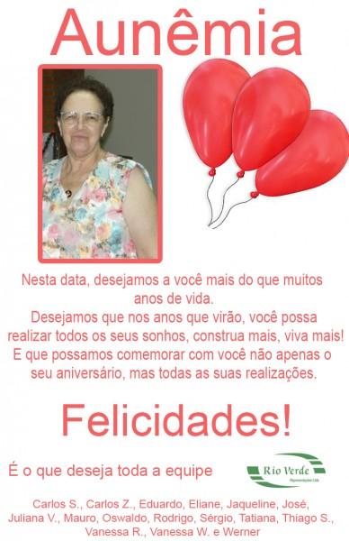 Feliz Aniversário Dona Aunêmia!