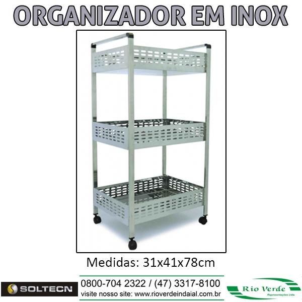 Organizador em Inox - Soltecn
