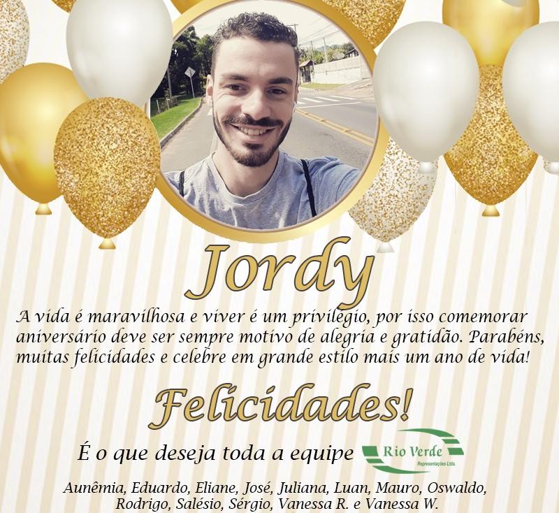 Feliz Aniversário Jordy!