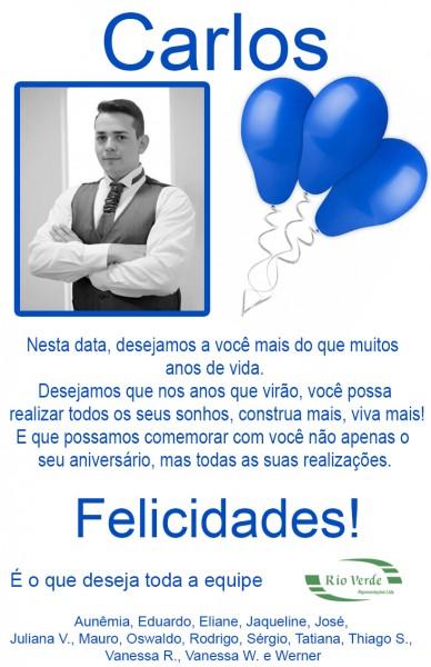 Feliz Aniversário Carlos!