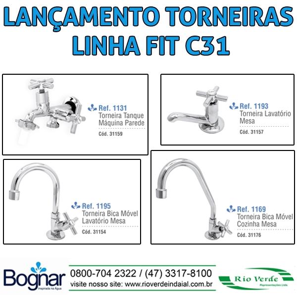 Torneiras Linha FIT C31 - Bognar Metais