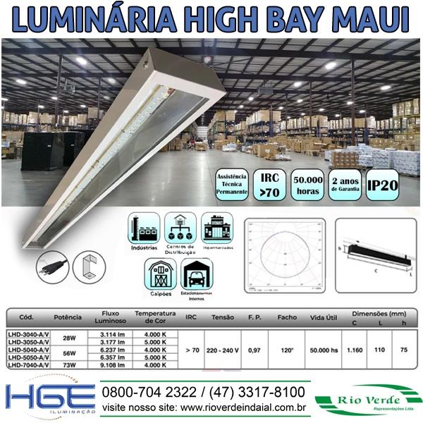 Luminária High Bay Maui - HGE Iluminação