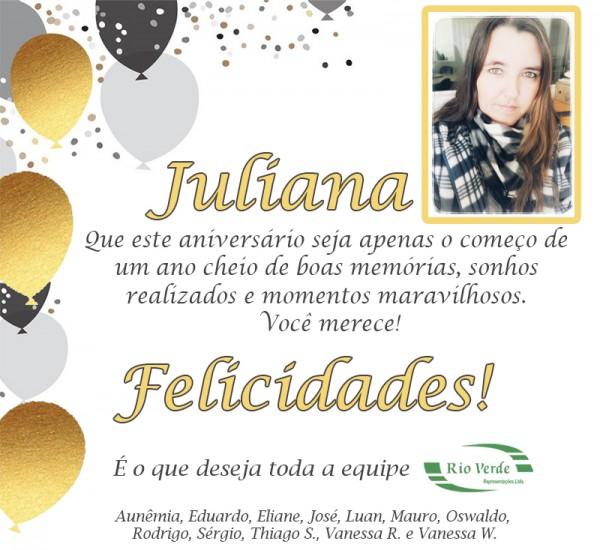 Feliz Aniversário Juliana!