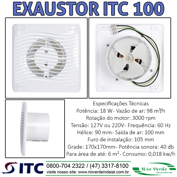 Exaustor ITC 100 - Exaustores ITC