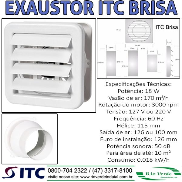 Exaustor ITC Brisa - TIC Exaustores