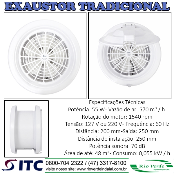 Exaustor Tradicional - Exaustores ITC
