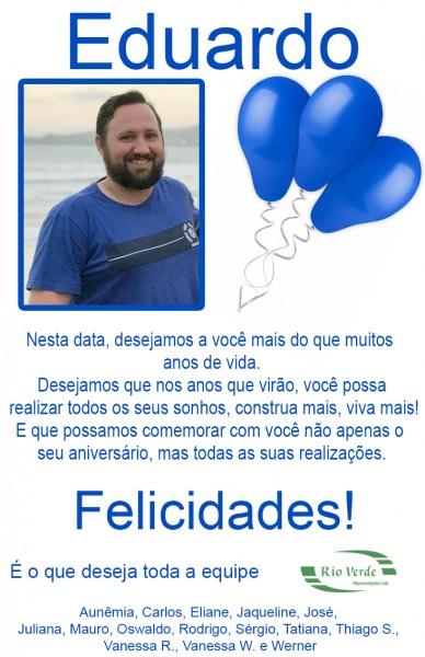 Feliz Aniversário Eduardo!
