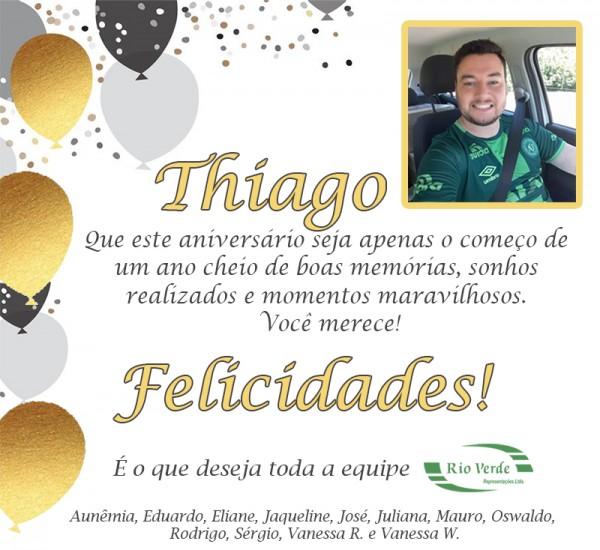Feliz Aniversário Thiago!