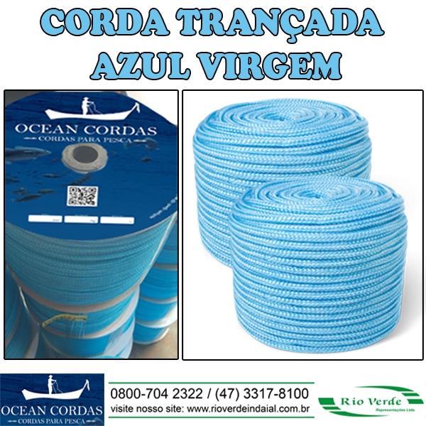 Cordas Trançada Azul Virgem - MR Cordas