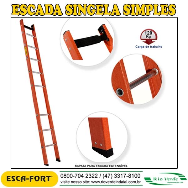 Escada Singela Simples - Escafort