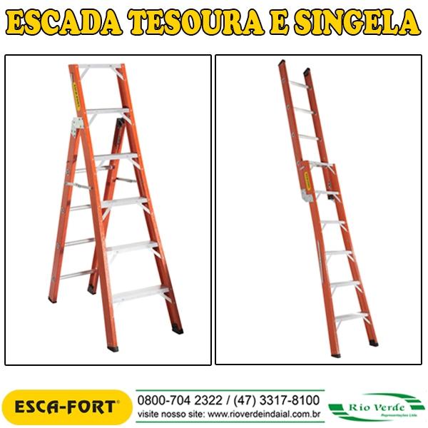 Escada Tesoura e Singela - Escafort