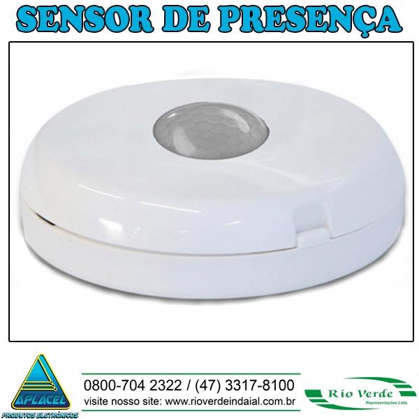 Sensor de Presença Sobrepor Teto - Aplacel