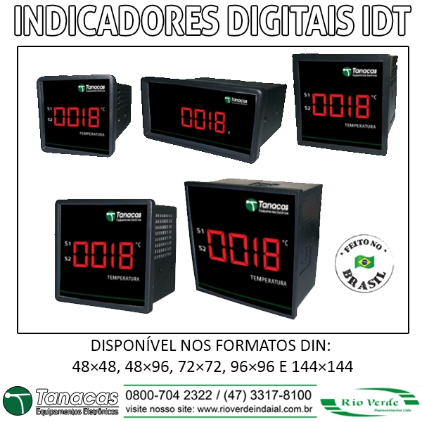 Indicadores Digitais IDT - Tanacas Equipamentos Eletrônicos