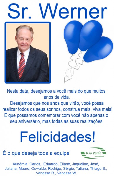Feliz Aniversário Sr. Werner!