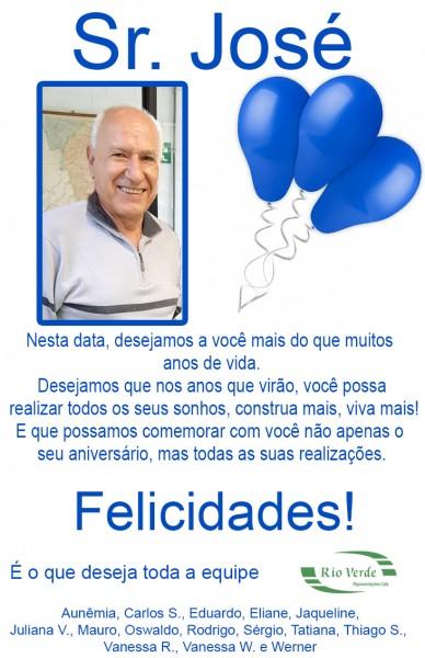 Feliz Aniversário Sr. José!
