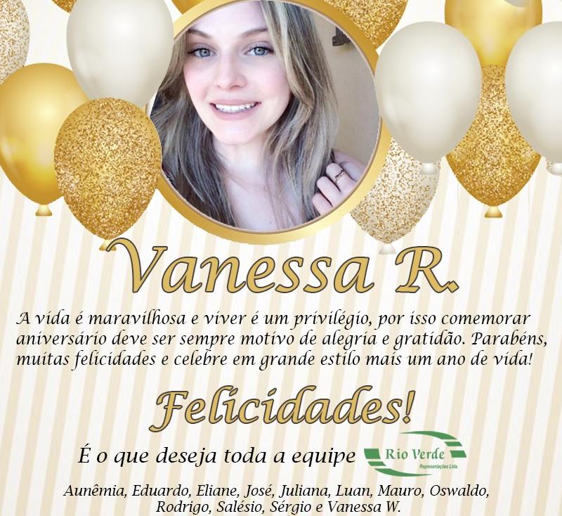Feliz Aniversário Vanessa R.!