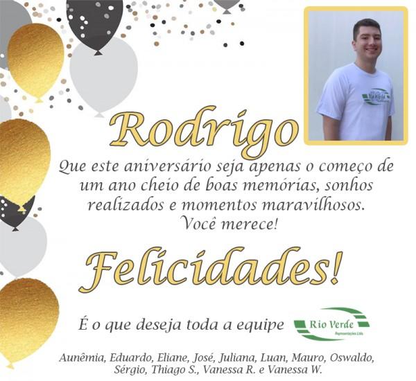 Feliz Aniversário Rodrigo!