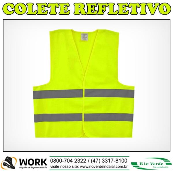 Colete Refletivo - Work Calçados e Epi's