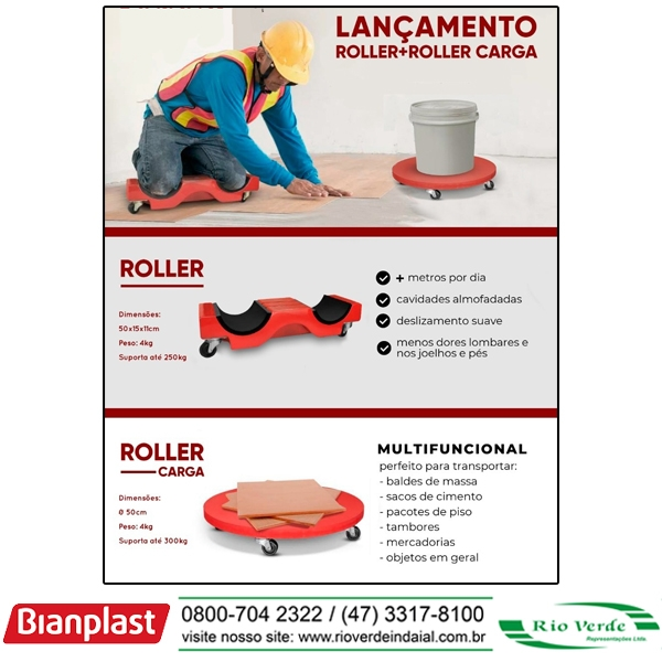 Roller + Roller Carga - Bianplast