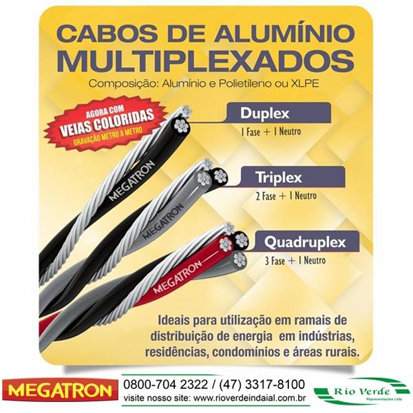 Cabos em Alumínio Multiplexados - Megatron
