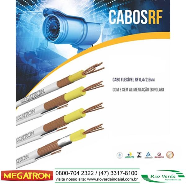 Cabo Flexível RF 0,4/2,5mm - Megatron Fios e Cabos