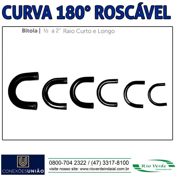 Curva 180º Roscável - Conexões União