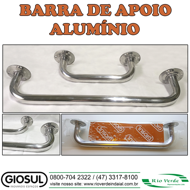 Barra de Apoio Alumínio - Giosul