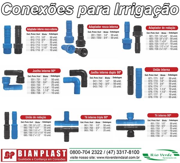 Conexões para Irrigação - Bianplast