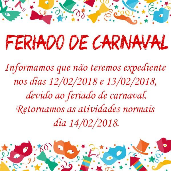 Feriado de Carnaval!