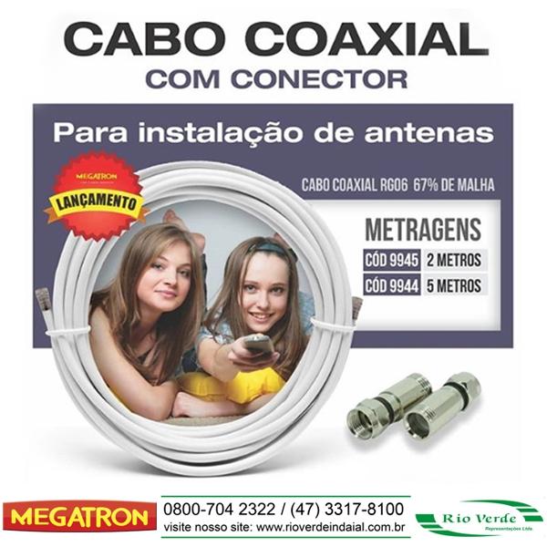 Coaxial com Conectores - Megatron