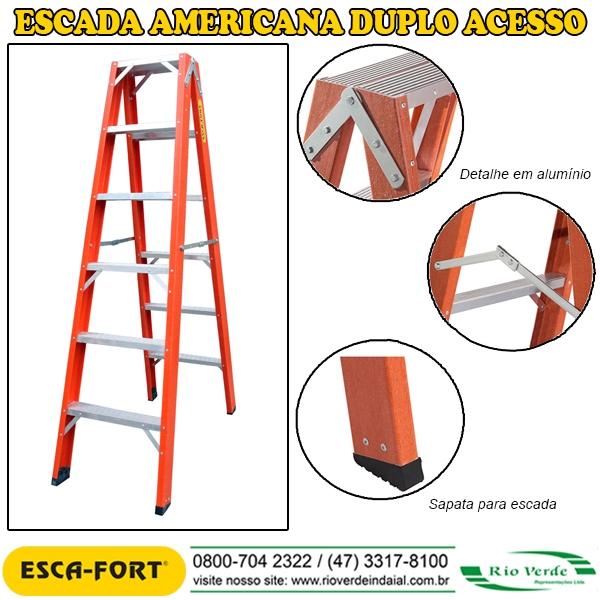 Escada Americana Duplo Acesso - Escafort