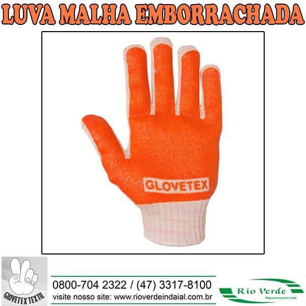 Luva Malha Emborrachada - Glovetex
