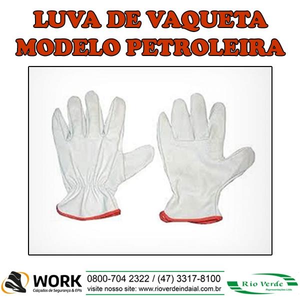 Luva Vaqueta modelo Petroleira - Work Carçados e Epi's