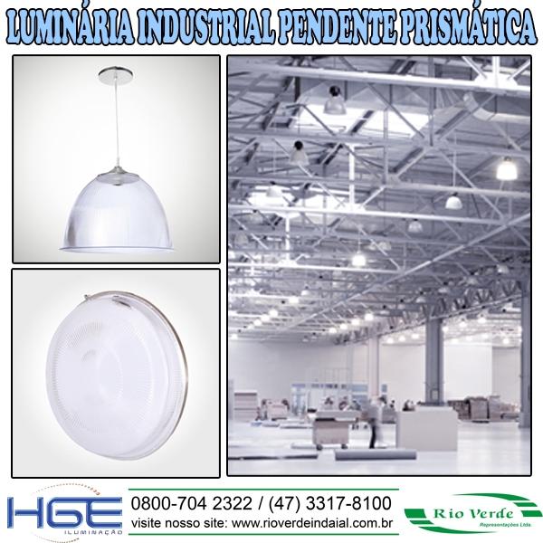 Luminária Industrial Pendente Prismática - HGE Iluminação