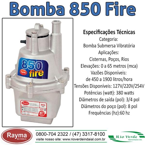 Bomba 850 Fire - Bombas Rayma
