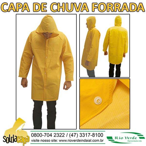 Capa de chuva forrada - Solda Capa