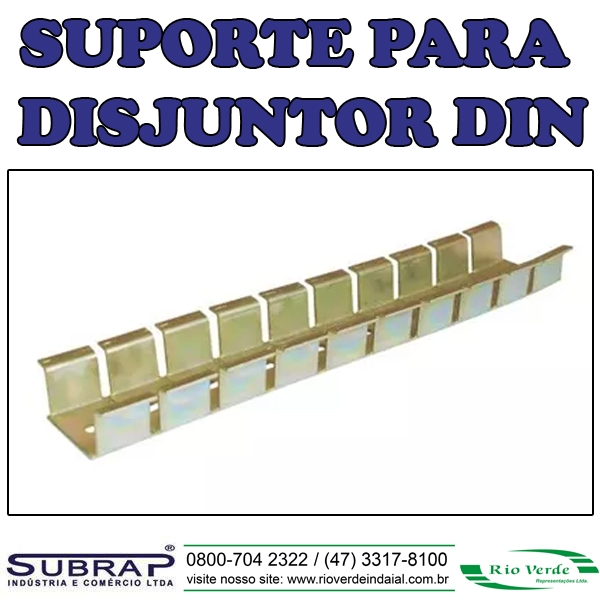 Suporte para Disjuntor DIN - Subrap